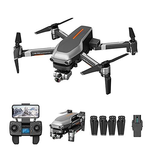 JJDSN Drone FPV GPS Pieghevole con videocamera HD 4K Video Live per Adulti e Principianti, quadricottero RC con Ritorno a casa GPS, seguimi, Controllo gestuale, Passaggio Automatico del Mouse e TR