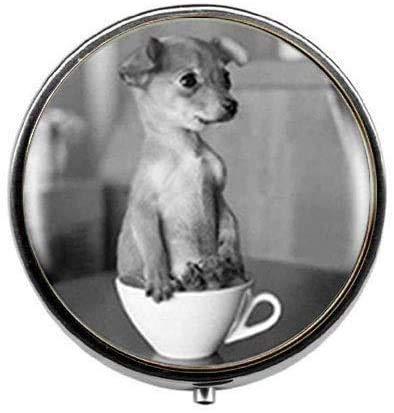 Schöne Teetasse Hund Tier Foto Pillendose – Charm Pillendose – Glas Candy Box Kunst Foto Schmuck schönes Geschenk
