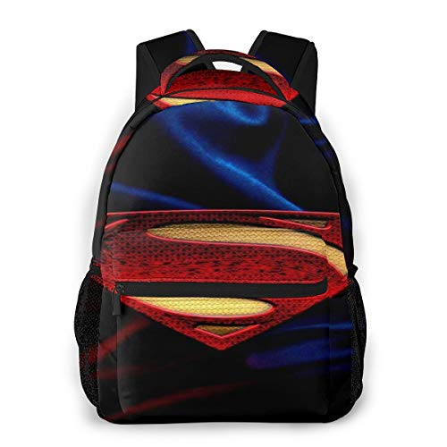 Leisure Backpack Best Sup-Erman School Book Bag For Women/Girls Teen Fashion Campus Backpack Multi-Purpose Laptop Bag Travel Backpack
