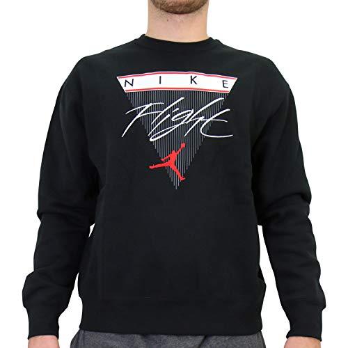 Nike Jordan Flight - Maglietta girocollo da uomo, taglia XL, colore: Nero
