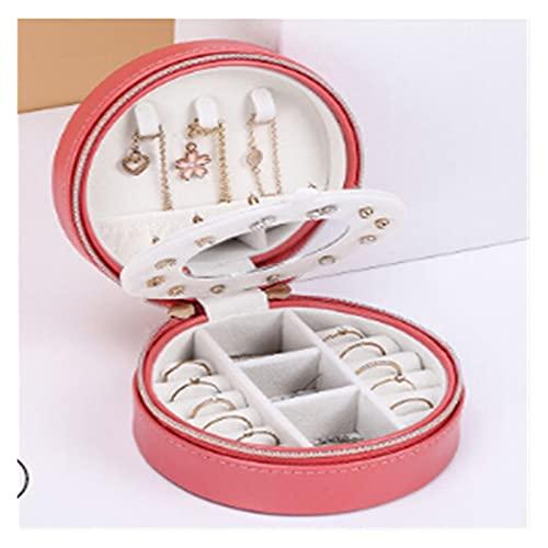 Joyero organizador,Joyeros Mujer Organizador Caja de almacenamiento portátil Pendiente de almacenamiento Caja de joyería Cremallera de viaje PU Joyas de cuero Pantalla de embalaje Organizador caja de