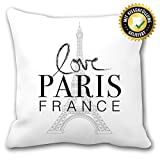 OWLBOOK Paris France Kissen mit Sprüchen Geschenke Geschenkidee für Paris Liebhaber zum Geburtstag...