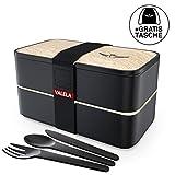 VALELA Lunchbox - Praktische Bento Box für den Transport von Mahlzeiten - Design Brotdose für die...