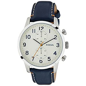 Fossil Mens Chronograph Townsman Navy Leather Strap Watch 44mm FS4932Fossil Mens Chronograph Towns… $79.95$79.95