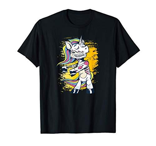 Feliz Halloween bailando el disfraz de zombie unicornio Camiseta