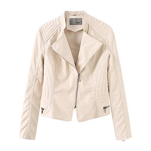YOURUOMEI dames imitatieleer motorjas dames imitatieleer casual jas, lente en herfst winter S-XL