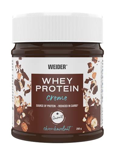WEIDER Whey Protein Choco Creme, leckerer Schoko-Haselnuss Aufstrich mit 21{50f1471144ab959712319b8b8e75cd36b46103efd985eb056b081b45c993eaf2} Protein