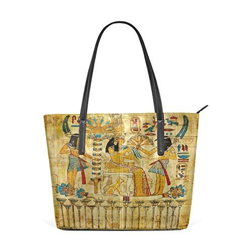 XiangHeFu Bolsos de mujer Bolso egipcio antiguo de cuero de