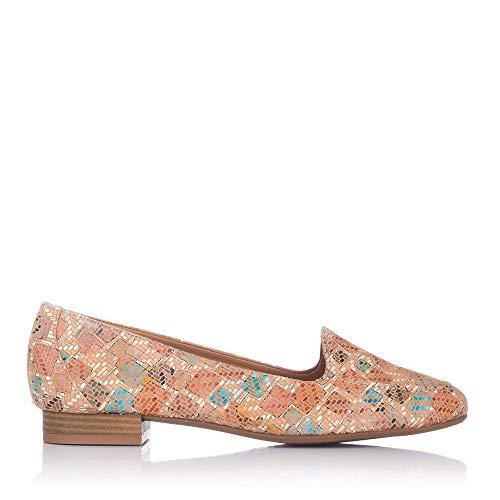 MARIA JAEN 1 Zapato Piel Combinado Mujer Camel 38