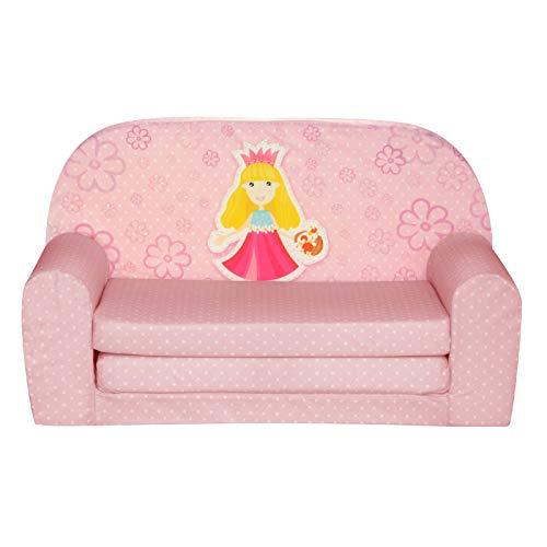FORTISLINE Kindersofa Mini zum Aufklappen Prinzessin W386_48