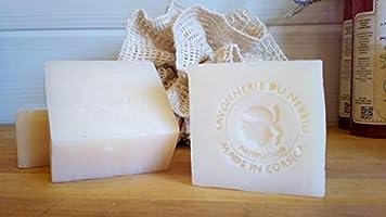 Savon à la Fleur d'Oranger de Corse - Savon artisanal saponifié à froid - surgras - Confectionné en Corse avec des...