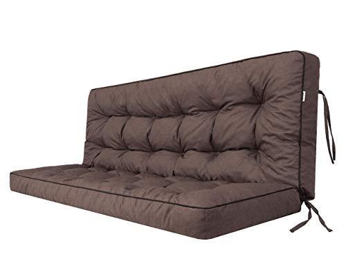 Cuscino per dondolo da giardino Hollywood con schienale, larghezza della seduta 150 cm.