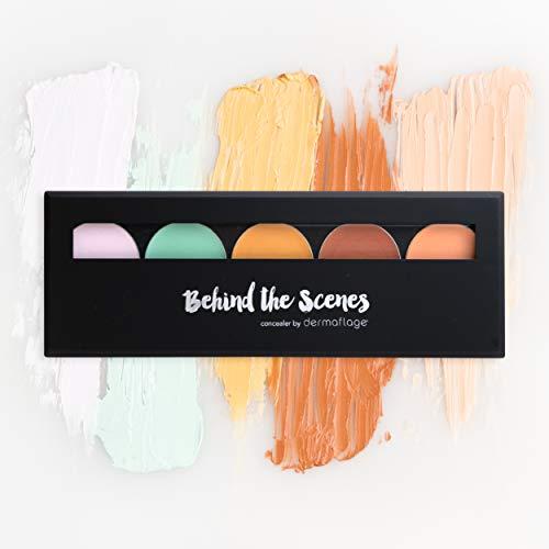 Dermaflage Korrecktor Palette, 5 Farben mit Pinsel, Concealer Makeup Palette, Concealer für Augenringe, Akne, Narben, Rötungen - Concealer Makeup von Pro-Maskenbildner
