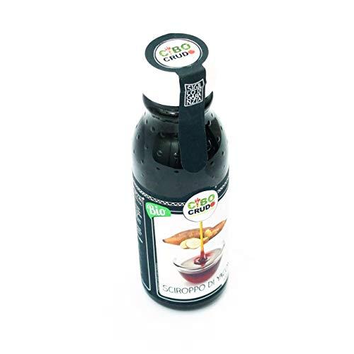 CiboCrudo Sciroppo di Yacon Biologico Crudo, Yacon Syrup Raw Organic – 250ml – Succo Bio e Naturale, Dolcificante, Basso Indice Glicemico, Prodotto in Perù, Etichette in Italiano