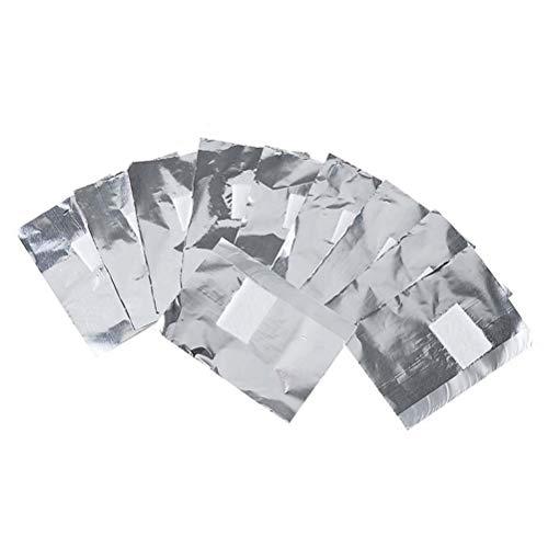 Frcolor Les enveloppes d'ongle de solvant de dissolvant de vernis à ongles 250pcs absorbent des feuilles de solvant de dissolvant de gel avec la garniture de coton