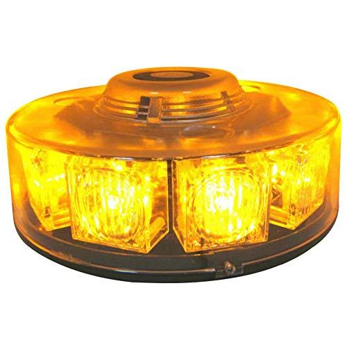 GCT Auto-Notfall-Warnleuchten, Warnbaken Amber LED-Warnleuchte Mit Magnetfuß, Eine Schneefräse, Polizei, Feuer, LKW, Fahrzeug,Weiß