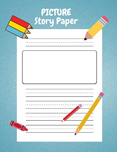 Picture Story Paper: for Kinder-3rd Grade, Boys & Girls 100 pages 7.44 x 9.69, measured top space for title, picture box for drawings and illustrations and centered dotted lines for handwriting guide