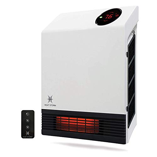 Heat Storm Deluxe Infrared Wall Heater, White