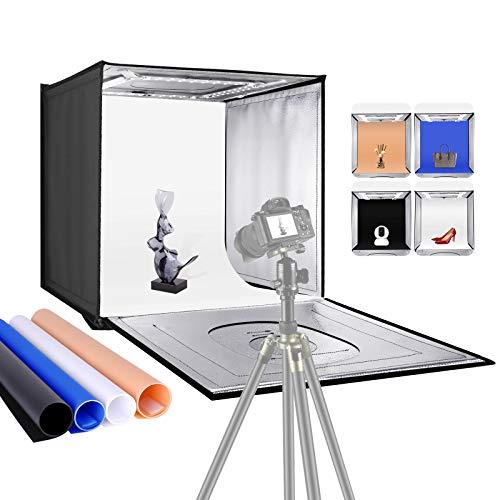 Neewer Photo Studio Light Box 24inches/60cm Shooting Light Tent Adjustable Brightness Foldable...