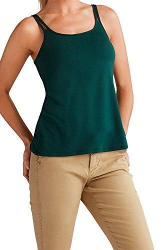 Amoena Womens Valletta Leisurewear Pocketed Mastectomy Top Padded Bra, Forest Green, 6 US