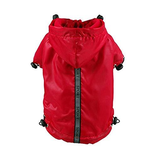 YQG Vervangende hondenregenjas, reflecterende Nightview-jas met fleece gevoerde regenjas poncho voor honden, klein, XS-XXL-kleurkeuze