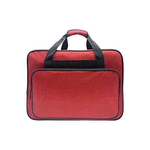 AUTUUCKEE Bolsa para máquina de coser, bolsa universal para máquina de coser, compatible con la mayoría de accesorios de máquinas de coser, estuche de viaje para máquina de coser (rojo)