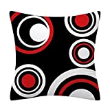 45x45cm Funda de cojín Simple nórdica Negro Rojo Fundas de Almohada Decorativas para el hogar Fundas de Almohada de línea Fundas de cojín para sofá Cama Decoración para el hogar-21