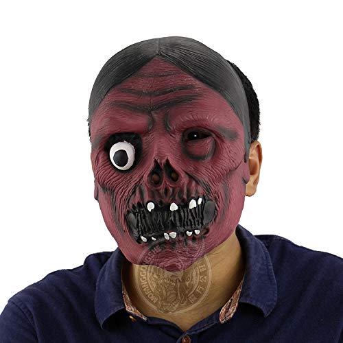 fcywai Scary Mask,Red-Faced Ghost Frau Neuheit Latex Masken Erwachsene Scary Kids Spaß Rave Kostüm Requisiten Partei Schutzmaßnahmen Airsoft Paintball Karneval Cosplay