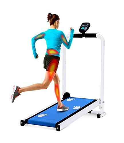 KPENG Laufband Heimtrainer, Laufbänder faltbar für zu Hause, Pad Ultradünn tragbar Verstellbar für Home Office Sports Fitness