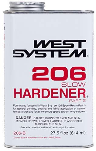 West System Endurecedor epóxico Lento 206 (.86 Cuartos de galón)