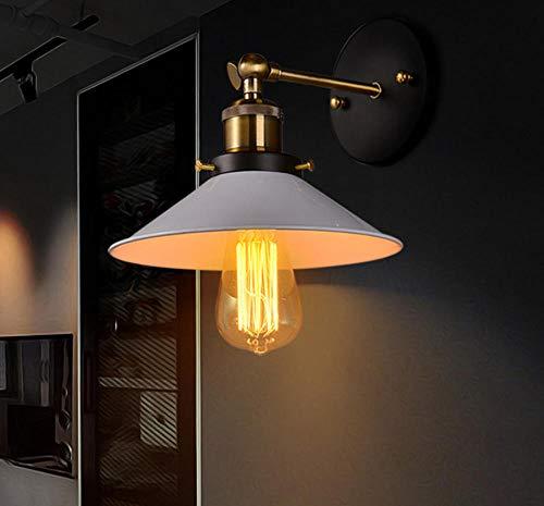 20 stuks antieke gesmede kleine landelijke persoonlijkheid creatieve wandlamp retro lamp vintage ijzer buitenverlichting slaapkamer lamp @ Black_dubbele kop