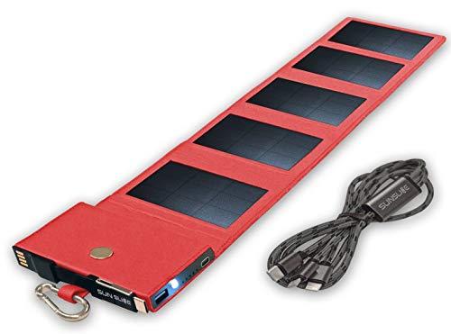 Sunslice Photon - Chargeur panneaux solaires pliables, rouge