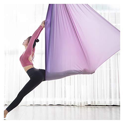 Columpio sensorial Aéreo de yoga Swing Set Sling Strong Anti-Gravedad Yoga Hamg Mock Kit Trapeze Equipo Inversión Herramienta para el hogar o el gimnasio Colgando Flexibilidad y fuerza central mejorad