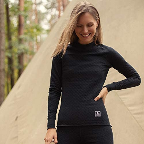 Thermowave Womens 2 in 1 Base Layer Polyester//Cotton Long Sleeve Jersey