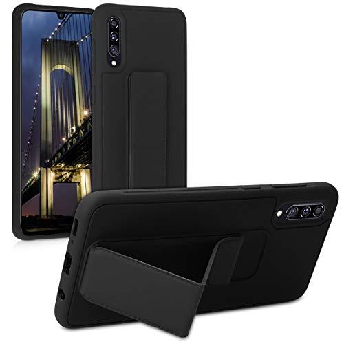 kwmobile Handy Hülle kompatibel mit Samsung Galaxy A70 - Schutzhülle mit Standfunktion & Bumper Schwarz