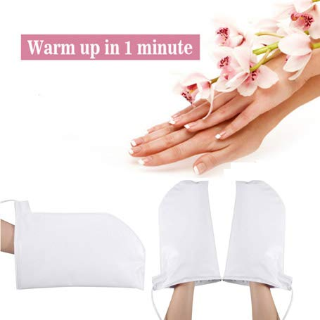 Electric Heated Mittens Gloves Traitement Gants Chauffants Traitement à la Paraffine Traitement pour Les Ongles, Soin des Mains Mitaines réutilisables, faciles à Nettoyer
