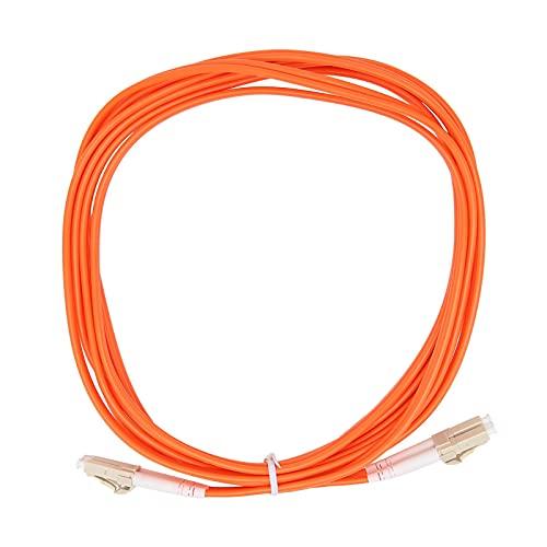 ASHATA Cable de Fibra Óptica LC/UPC a LC/UPC Multimodo Dual-Core 125μm, para Transmisión de Datos. (300 cm / 3,3 Yardas)