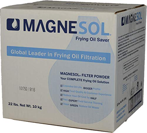 Dallas Group | 1 x 22 lb Box Magnesol XL Fryer Filter Powder | Item 700162 | Deep Fryer FryPowder | Save Fryer Oil, Extend Oil Life, Fry Oil Cleaner, (1 x 22 lb box) (Each)