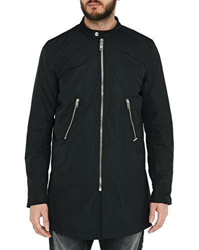 Diesel - Blousons - Herren - Schwarze Lange Jacke mit Reißverschluss Pumpkins für Herren - S