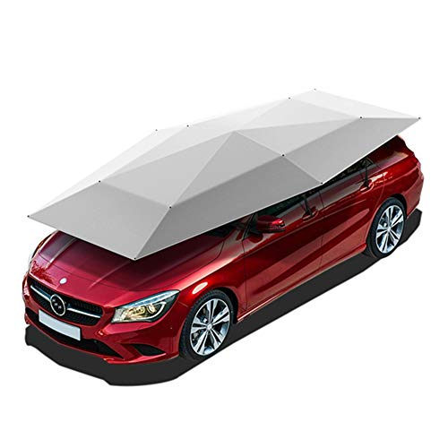 WYW Car Cover Universal Car Vehicle Tent Car/Picnic Umbrella Windproof Buttons Oxford Cloth Sun Shade Umbrella Car Cover 4.5 * 2.3M(Have Bracket)