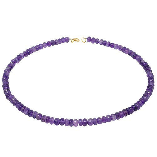 Kette Collier aus echtem Amethyst facettiert violett Amethystkette Damen