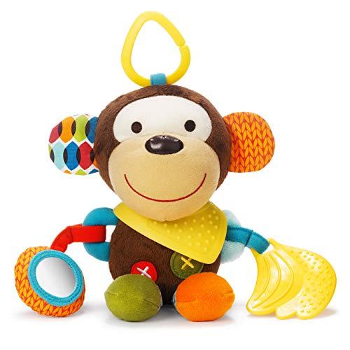 Skip Hop-306201 Bandana Buddies, Juguete de Actividad, Peluche para Bebés y Niños, Mono, Multicolor (306201)