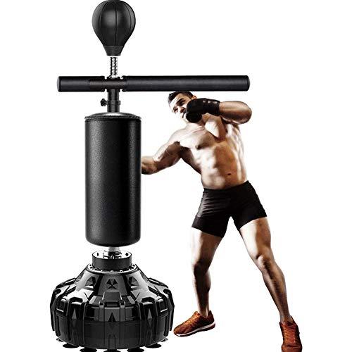 Stands Barra de Boxeo Reflectante 3 en 1, Barra giratoria de 360 °, Bolsa de Boxeo de pie, Ajustable en Altura, Entrenador de Velocidad de Boxeo para Adultos, Pelota de Boxeo de Alta Resistencia