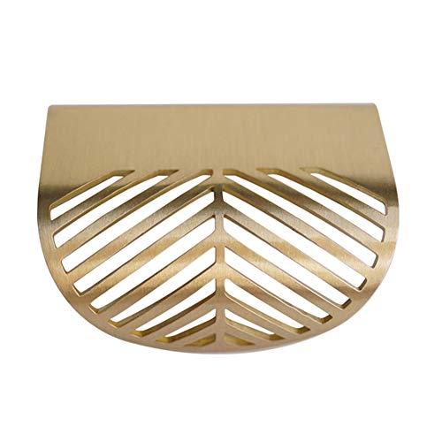Nordischen Stil Leaf Cabinet Pull Möbel Hardware Heimwerker-Tools Gold Silber