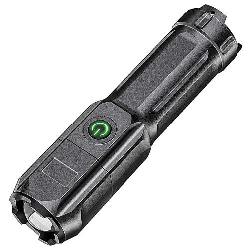 Nuevo estilo USB recargable T6 LED Mini linterna Zoom Linterna Led Noche Caminar Iluminación Coche Mantenimiento Trabajo Antorcha (Edición Básica)