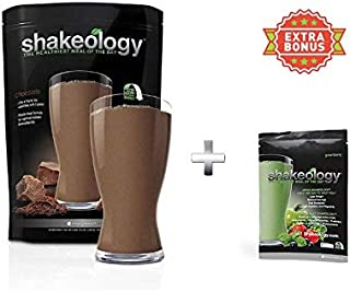 Shake 30 Servings (Bulk) in a Bag 2.38LBS +Extra Bonus greenberry Pack 1.25oz for Free (Chocolate)
