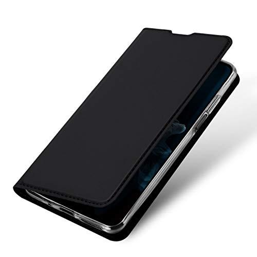 COPHONE Handyhülle für Huawei NOVA 5T. Hülle Leder Handytasche für Huawei NOVA 5T Klapphülle Tasche Schwarz Brieftaschenetui mit Magnetverschluss für Huawei NOVA 5T