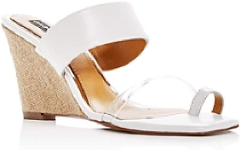Jaggar Women's Wedged Leather Wedge Slide Sandals Marshmellow 35 (5)