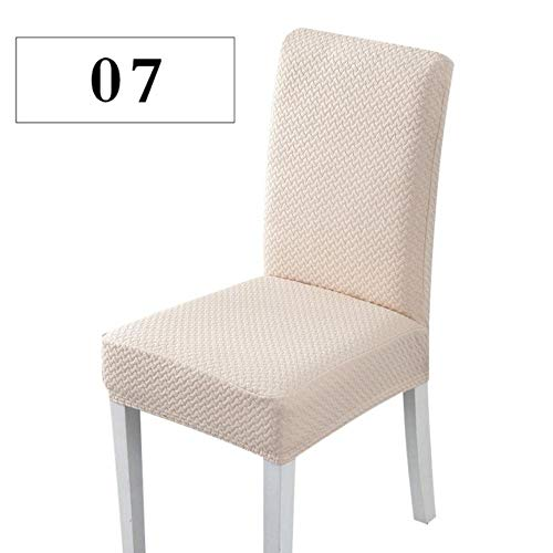 S/M/L Superzachte jacquardstof Korte termijn stretch stoelhoes Elastische spandex stoelstoelhoes voor eetkamer/keuken 1/4/6 pc, plaid donkerroze, Russische Federatie