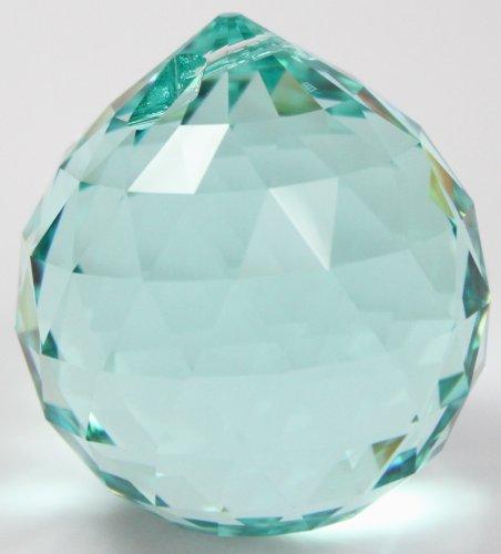 Rieser premium-kristall Kristallset: 1x Swarovski® Kristalle Kugel 40mm Antique Green/türkis grün blau Aufhängeset